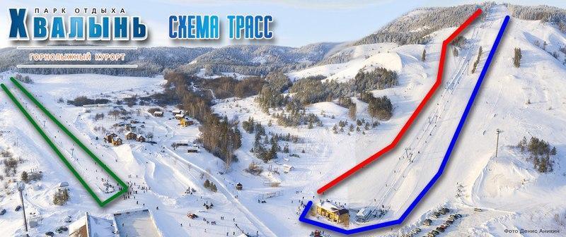 склоны хвалынский горнолыжный курорт